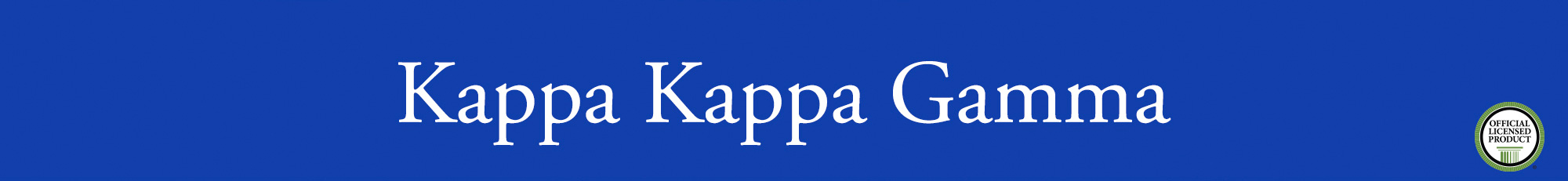 Kappa Kappa Gamma Banner