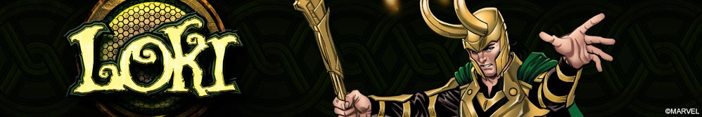 Image of Loki comic design and Loki logo