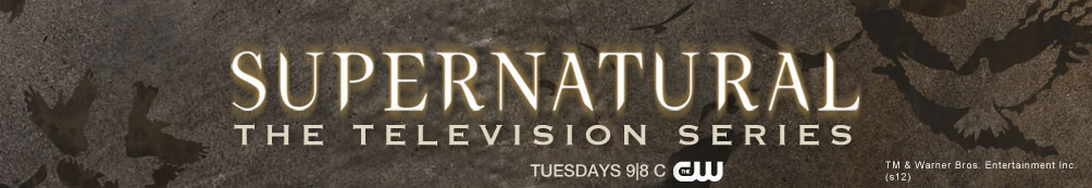 Supernatural logo featuring the Supernatural TV Show Cast