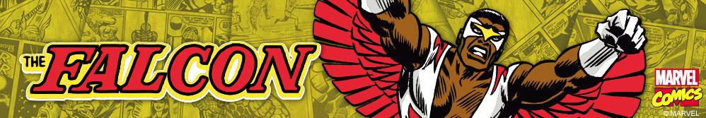 Image of Falcon comic design and The Falcon logo